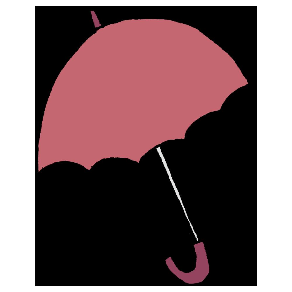 開いた傘のフリーイラスト
