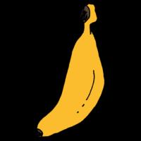 1本のバナナのフリーイラスト
