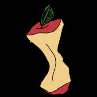 りんごの芯のフリーイラスト