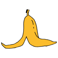 バナナの皮のフリーイラスト