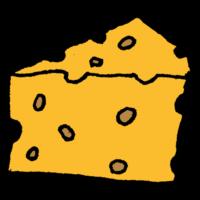 穴の開いたチーズのフリーイラスト