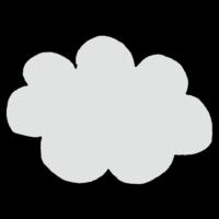 雲,くも,天気,くもり,手書き風,空,もこもこ,景色
