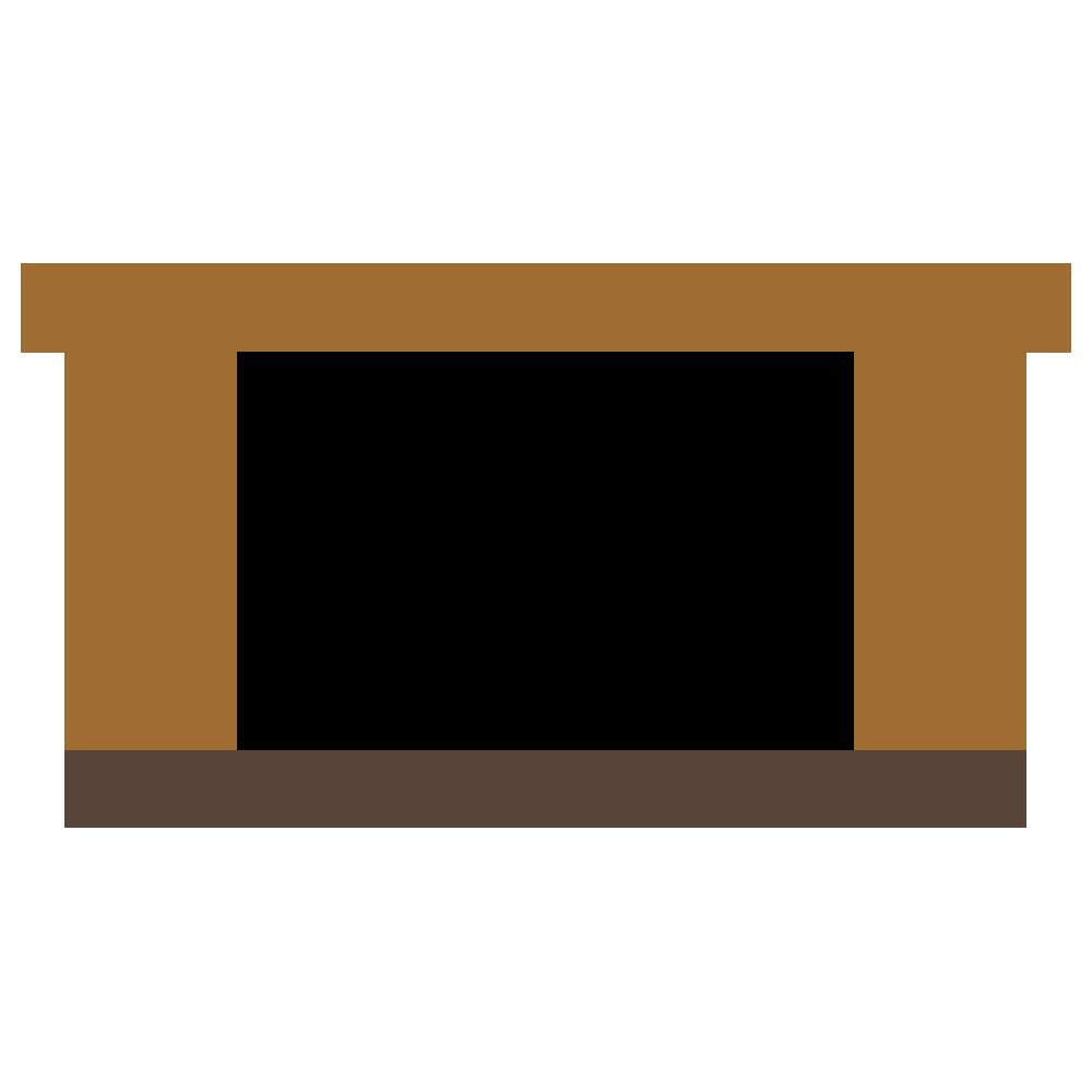 低めのテーブルのフリーイラスト