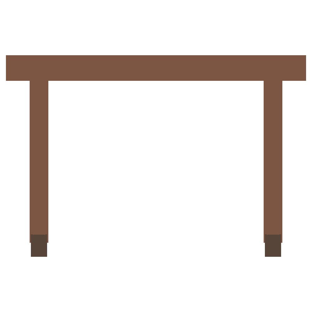 背の高いテーブルのフリーイラスト
