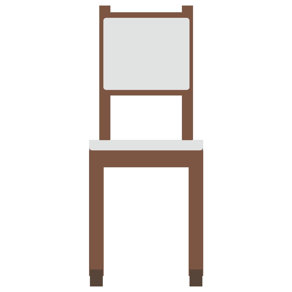 正面を向いた背の高い椅子のフリーイラスト