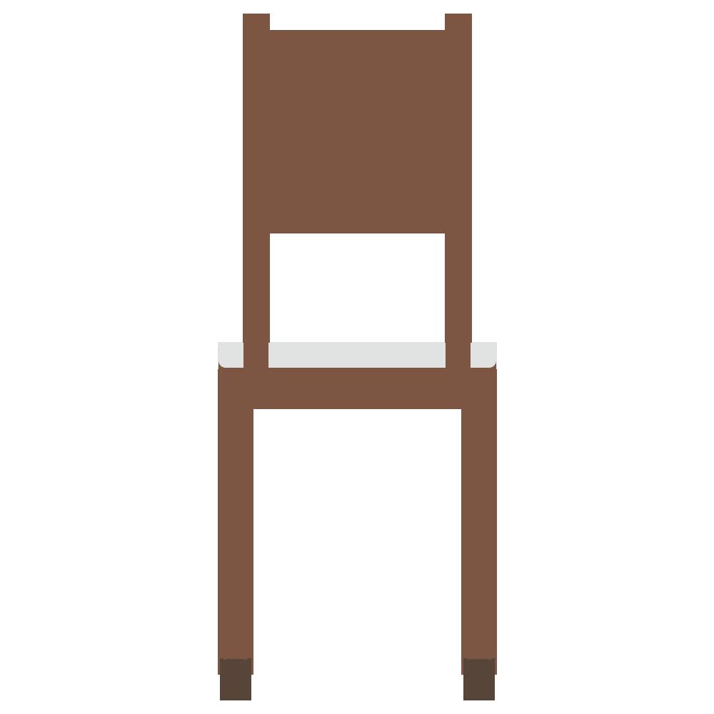 後ろ向きの背の高い椅子のフリーイラスト