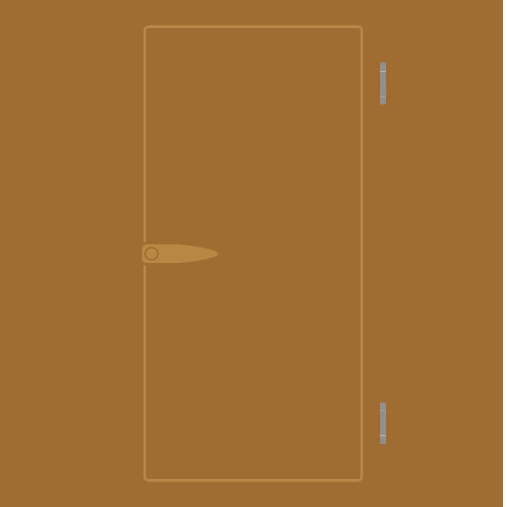 茶色いドアのフリーイラスト