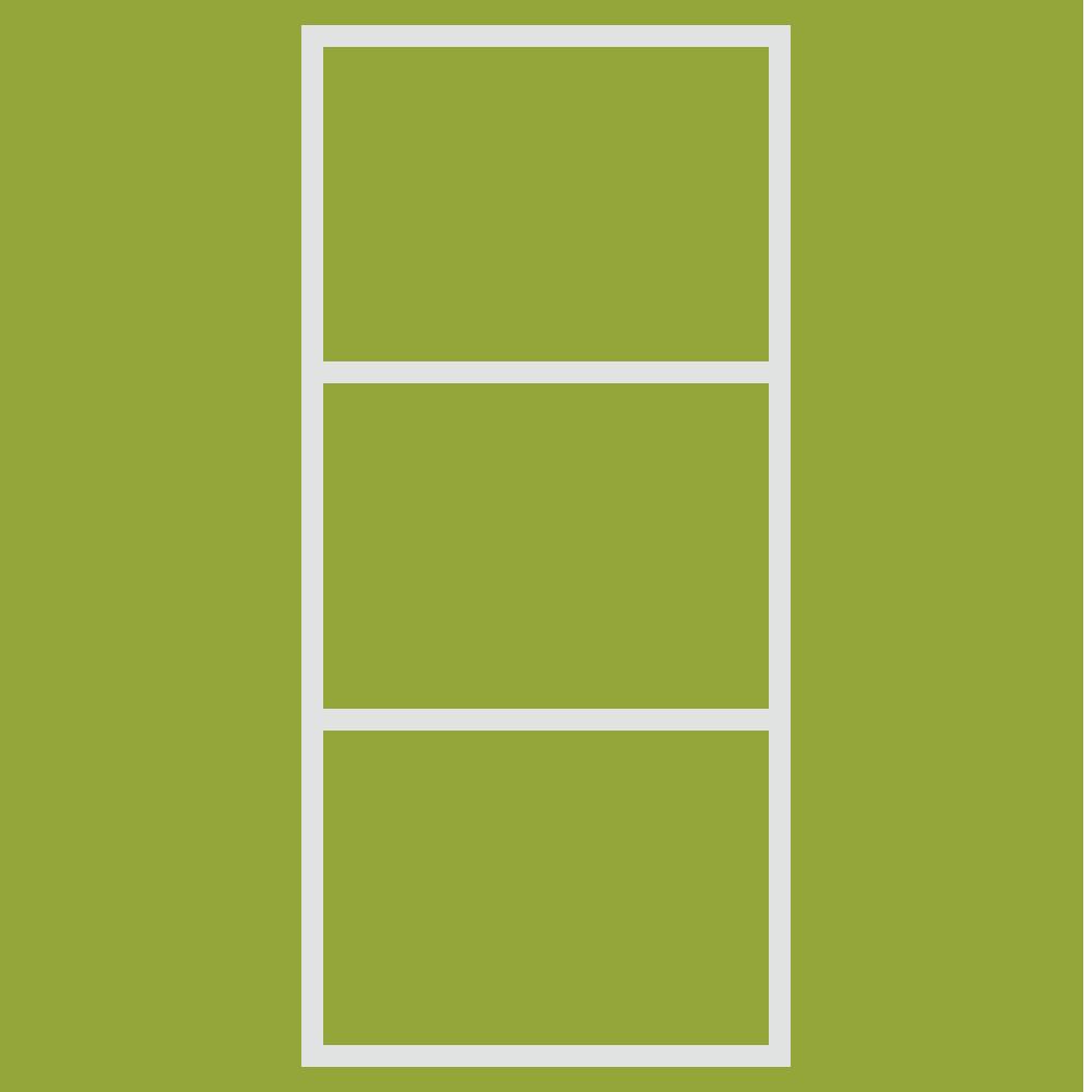 黄緑色のカラーボックスのフリーイラスト
