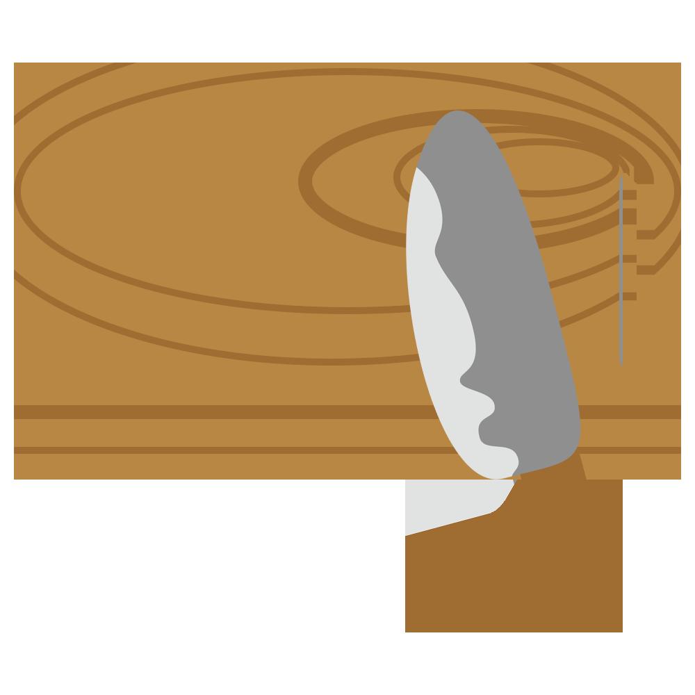 まな板と包丁のフリーイラスト