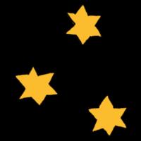 頂点が6つある星のフリーイラスト