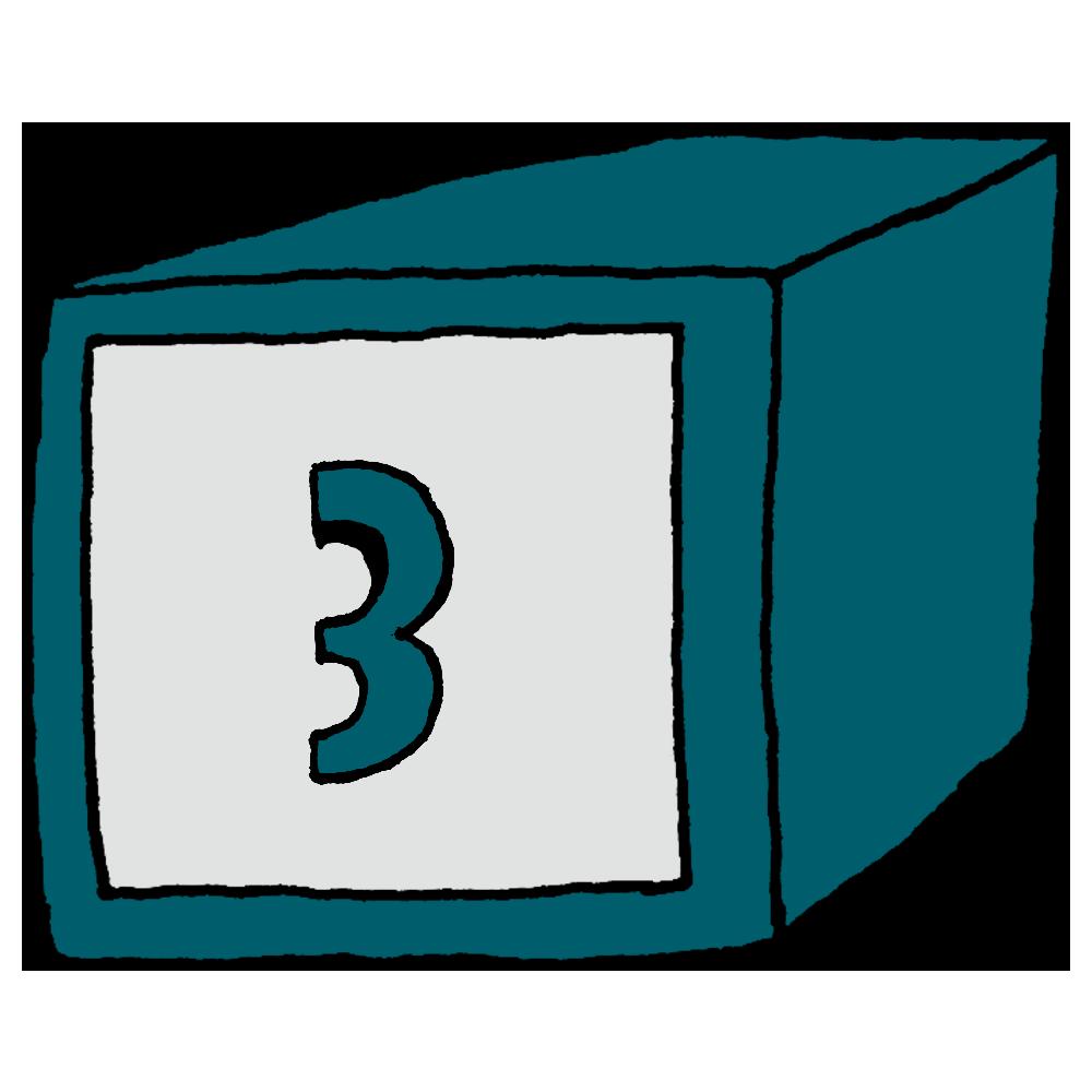 3,NO3,数字,番号,箱,見出し
