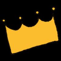 王冠のマークのフリーイラスト
