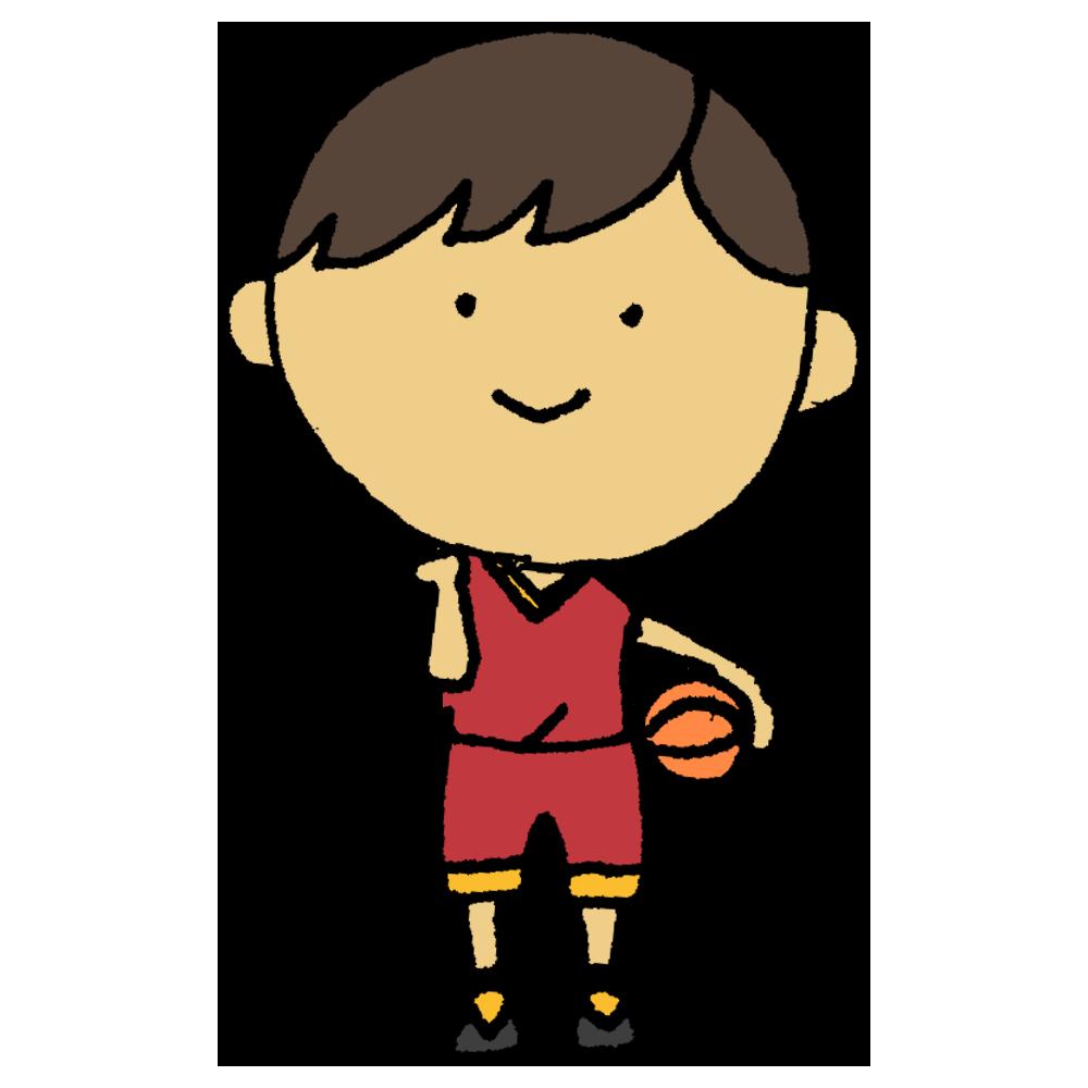 バスケットボールを持った女の子のフリーイラスト