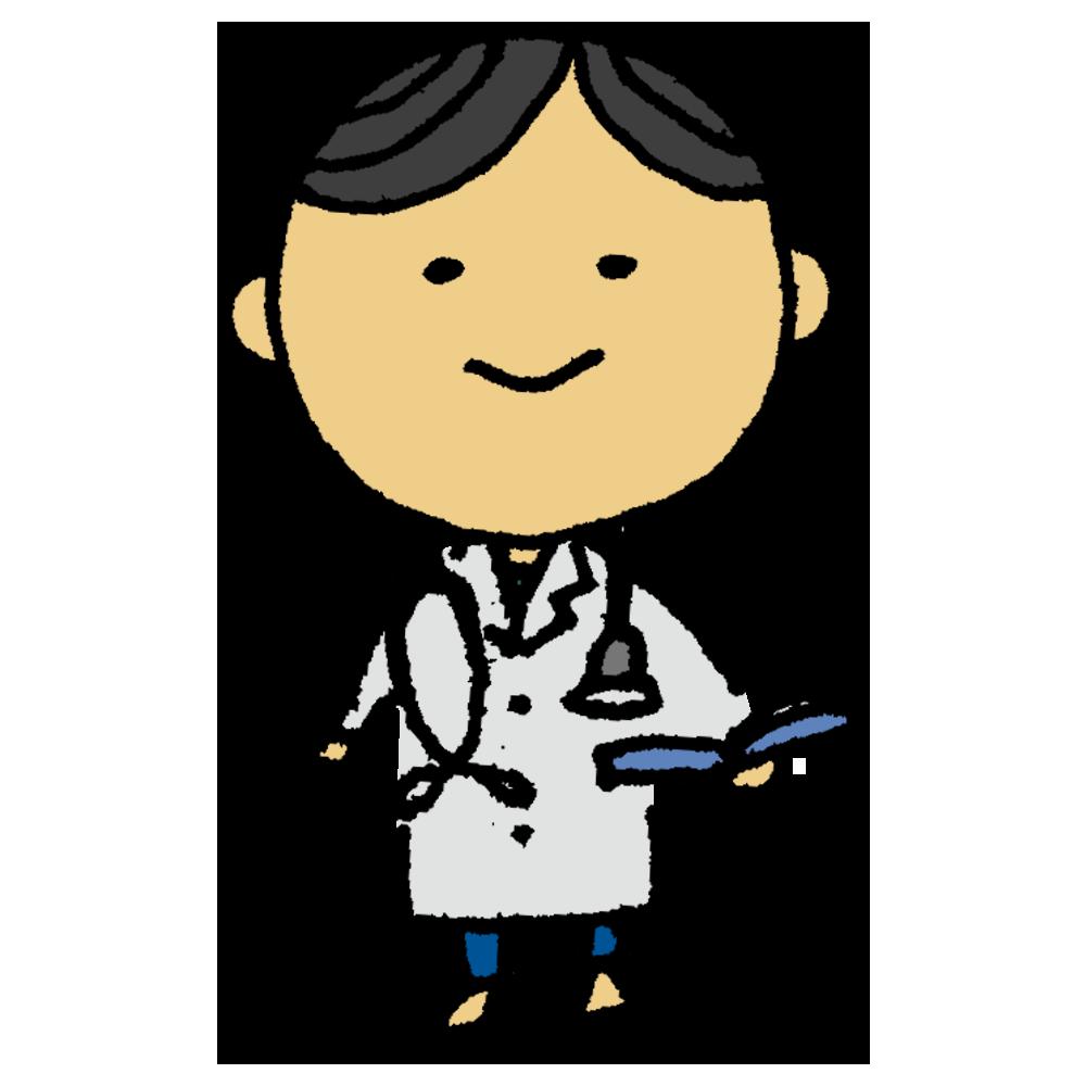 医者,先生,カルテ,人物,男性,手書き風,優しい,聴診器,ドクター