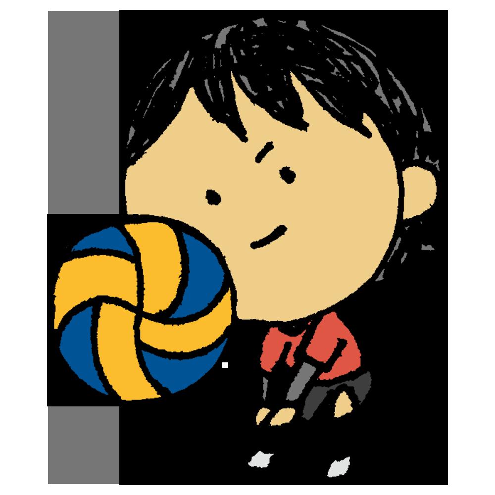 バレーボール,バレー,スポーツ,運動,部活,バレー部,女の子,人物,手書き風