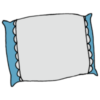 枕,寝る,寝具,頭,昼寝,睡眠,快眠,手書き風