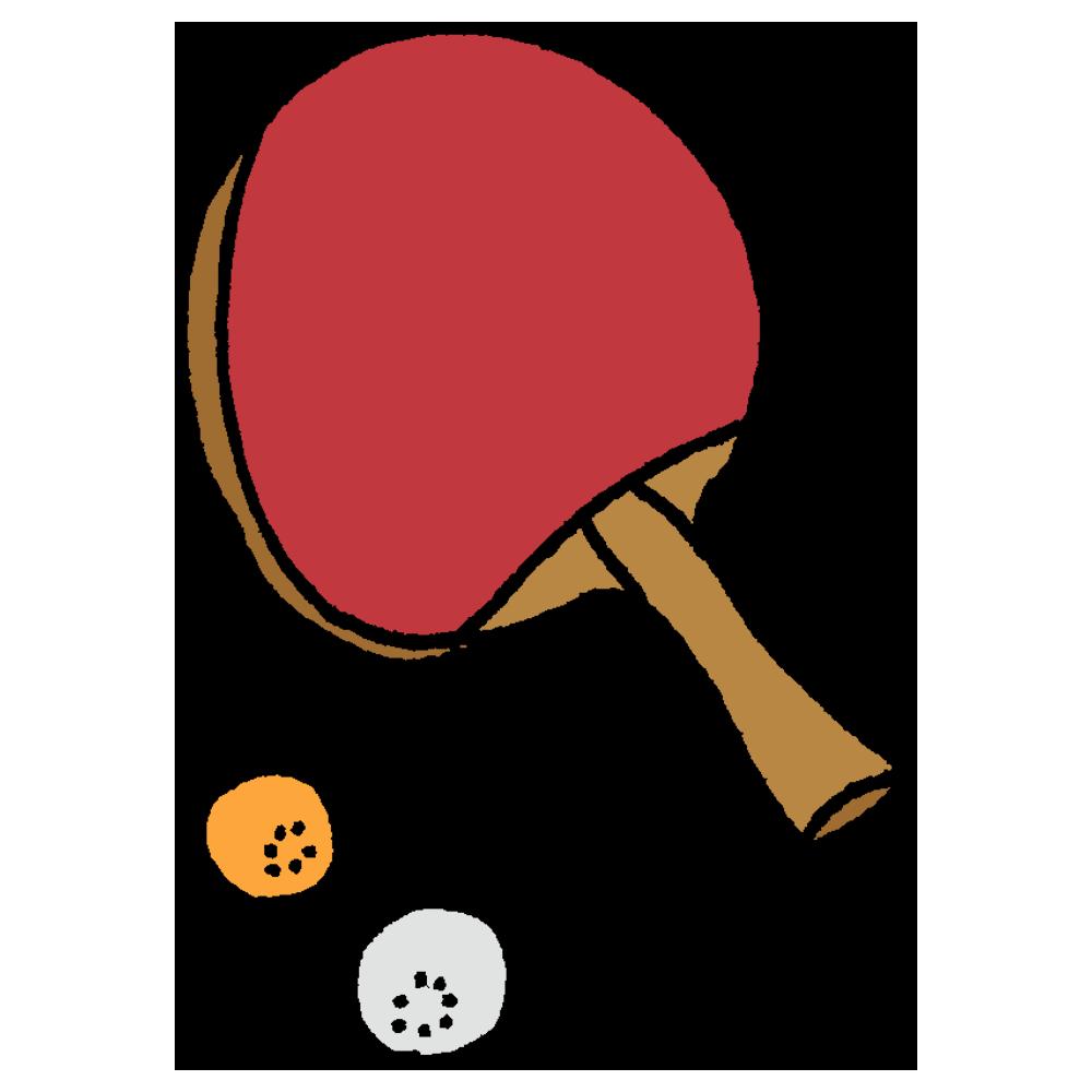卓球,スポーツ,手書き風,ラケット,ボール,テーブルテニス,打つ