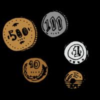 小銭,お金,効果,手書き風,細かいの,ショッピング,お買い物,レジ,お財布,マネー