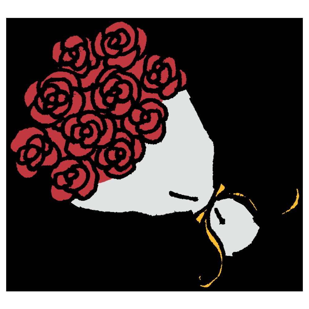 花束のフリーイラスト