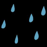 雨,雨粒,天気,梅雨,雨天,雫,水,手書き風
