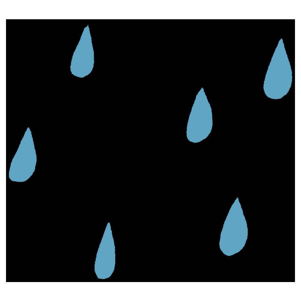 雨のフリーイラスト