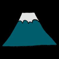 富士山,山,マウンテン,手書き風,景色,風景,自然,山登り,ハイキング,年賀状,正月