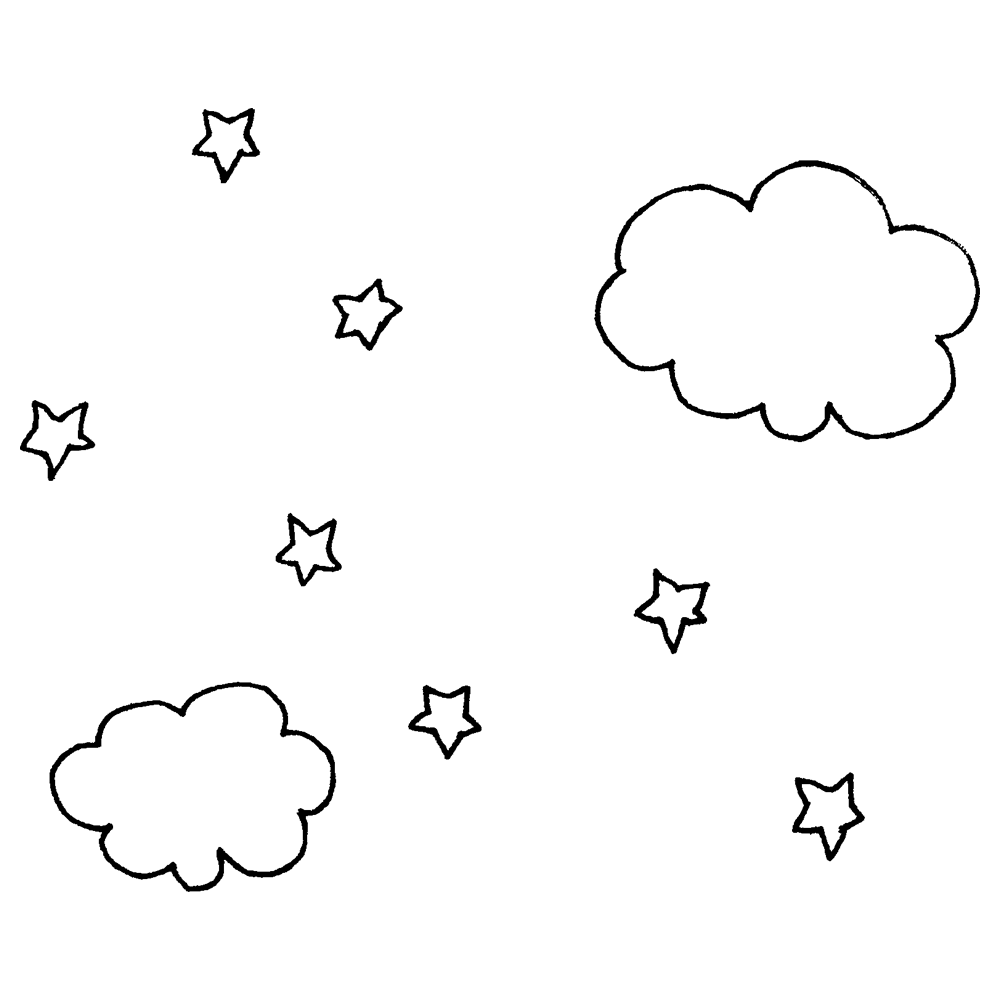 夜空のフリーイラスト
