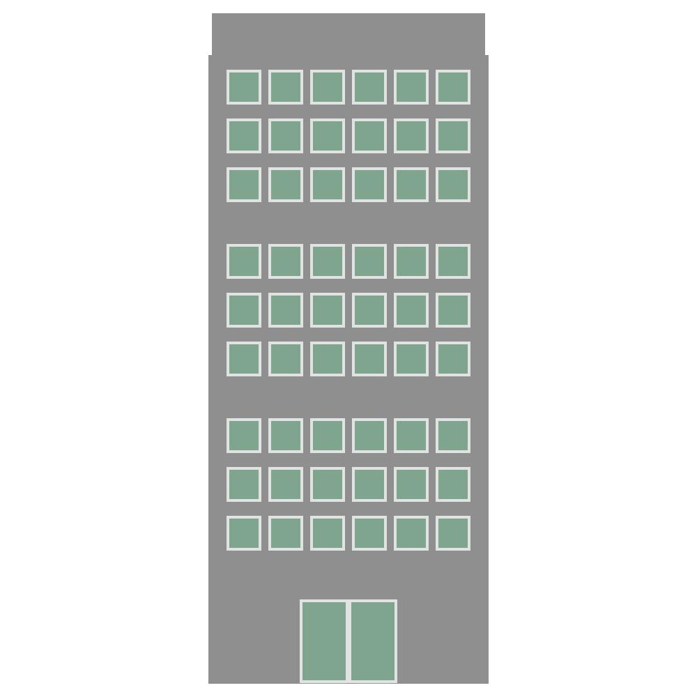 高い建物のビルのフリーイラスト