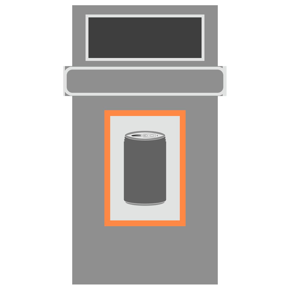 缶のゴミ箱のフリーイラスト