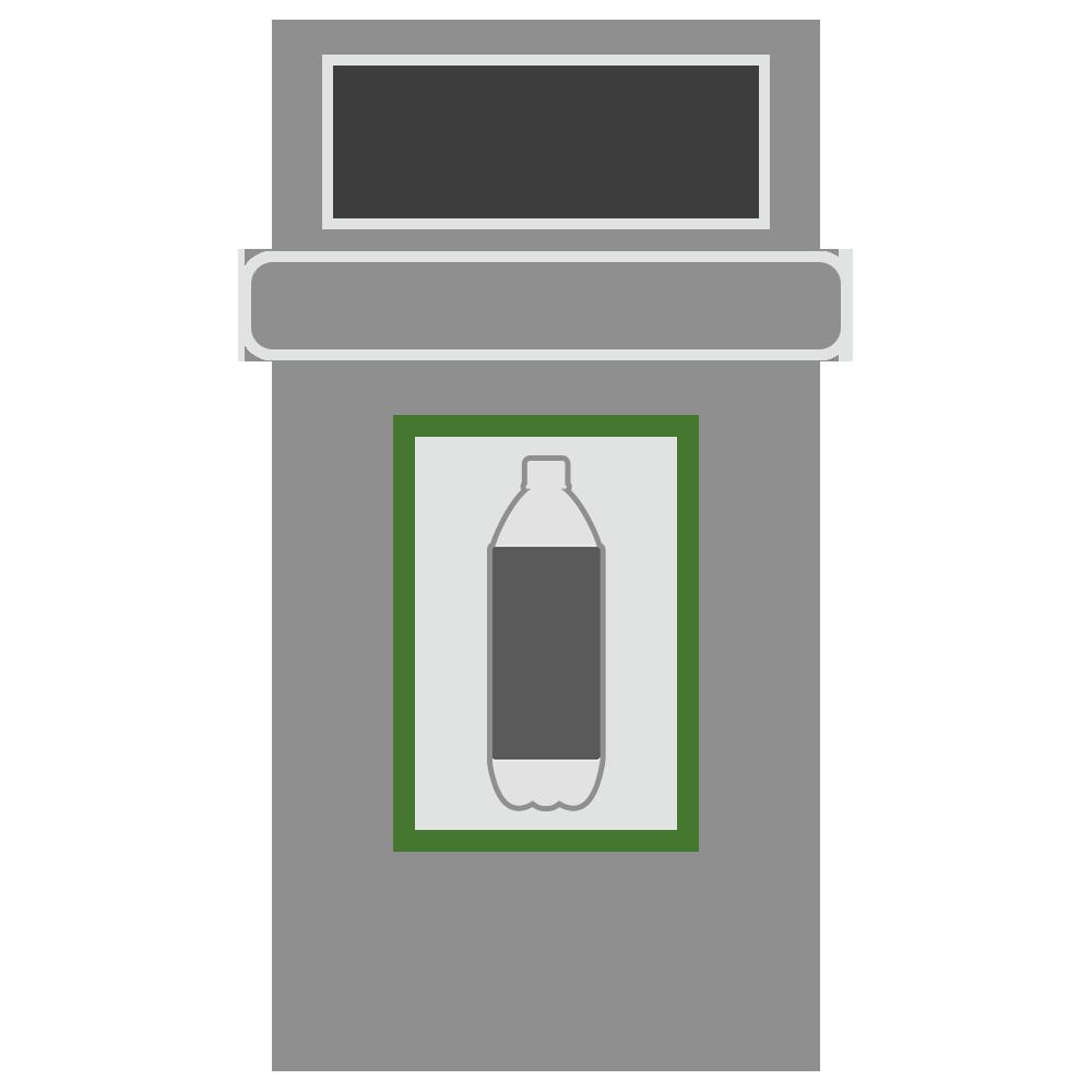 ペットボトルのゴミ箱のフリーイラスト