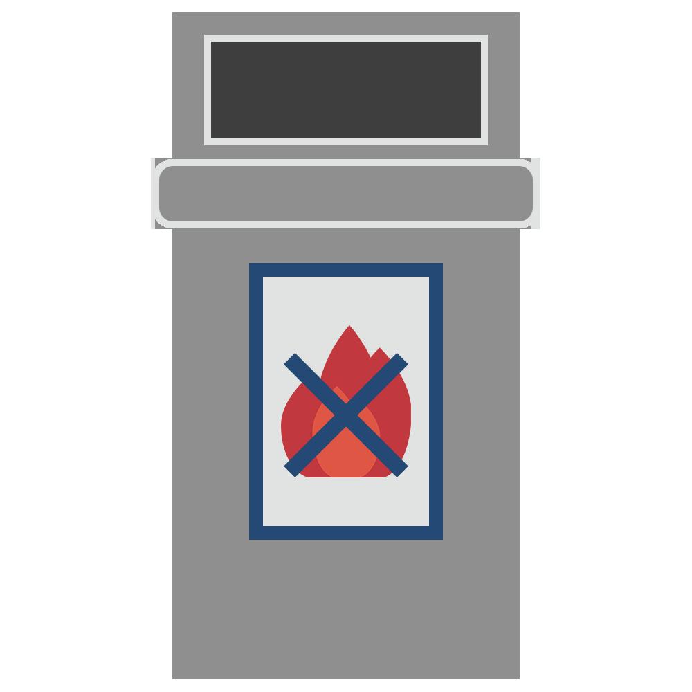 燃えないゴミのゴミ箱のフリーイラスト