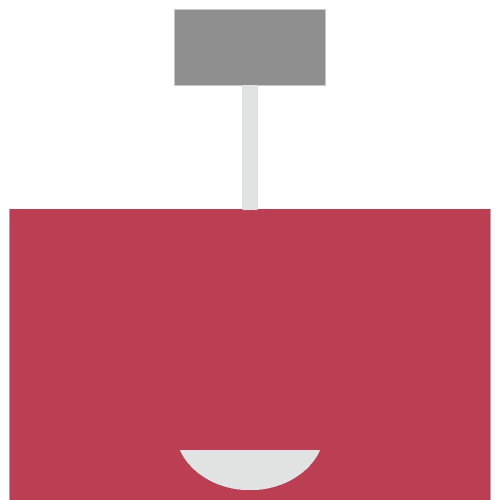 赤い傘のついたシーリングライトのフリーイラスト