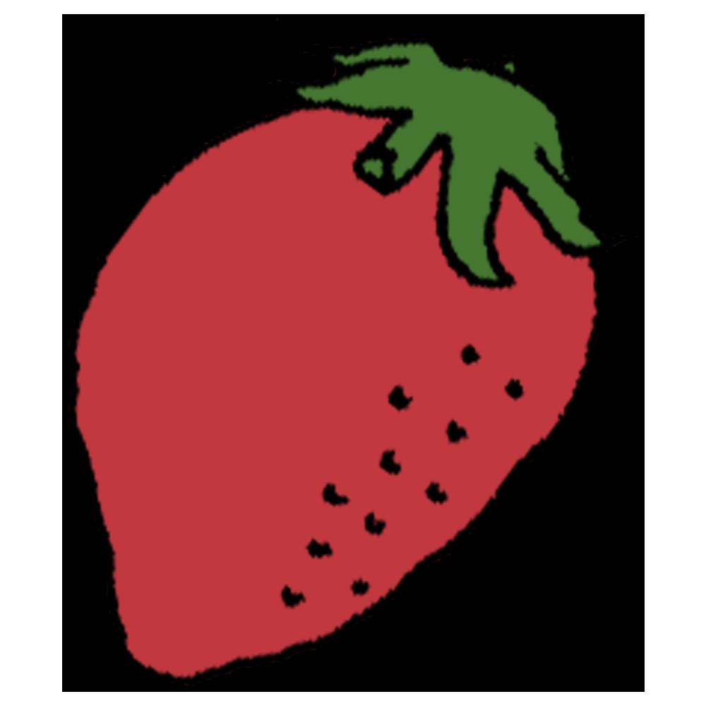 イチゴ,苺,いちご,手書き風,甘い,野菜,フルーツ,果物,食べる,食べ物,赤い,手書き風