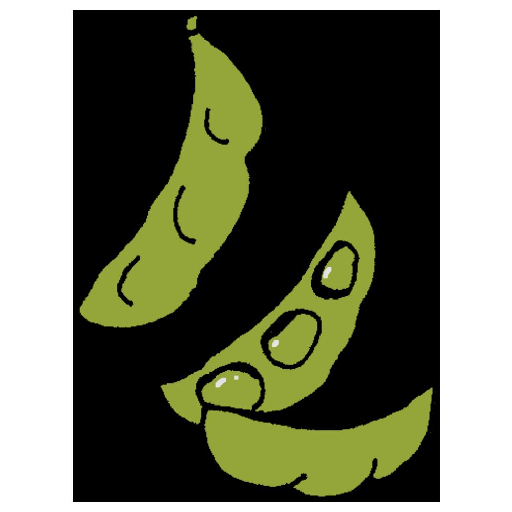 枝豆のフリーイラスト