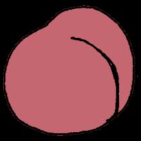桃のフリーイラスト
