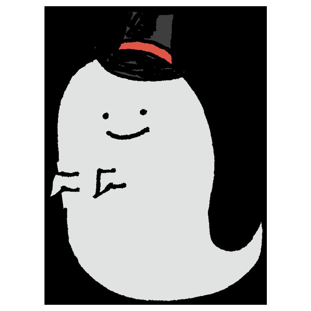 オバケ,ハット,帽子,ハロウィン,生き物,架空の生物,幽霊,手書き風,かわいい