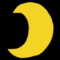 月,景色,惑星,満ち欠け,三日月,夜空,夜,空,手書き風