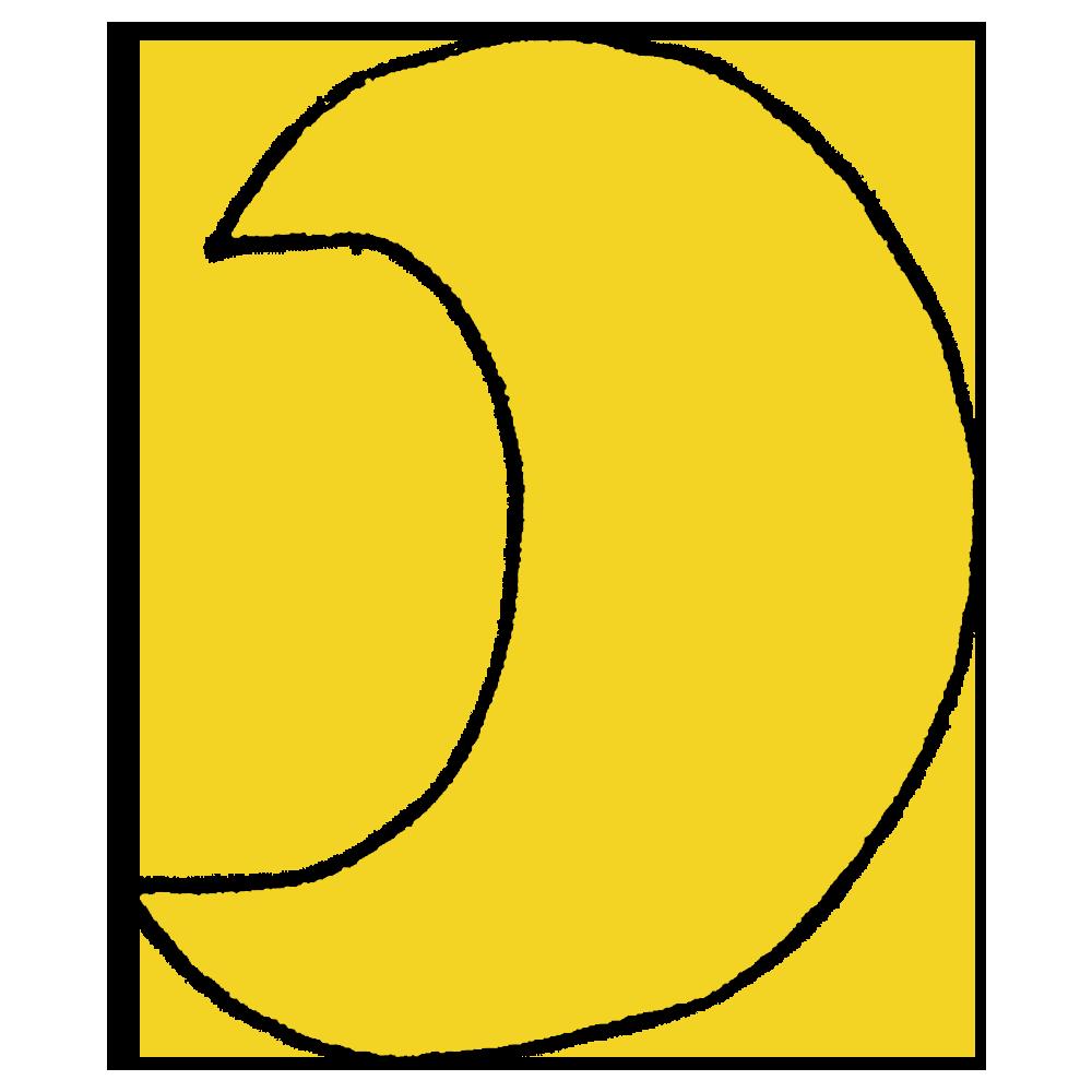 月のフリーイラスト