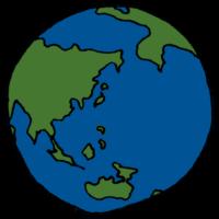 地球のフリーイラスト