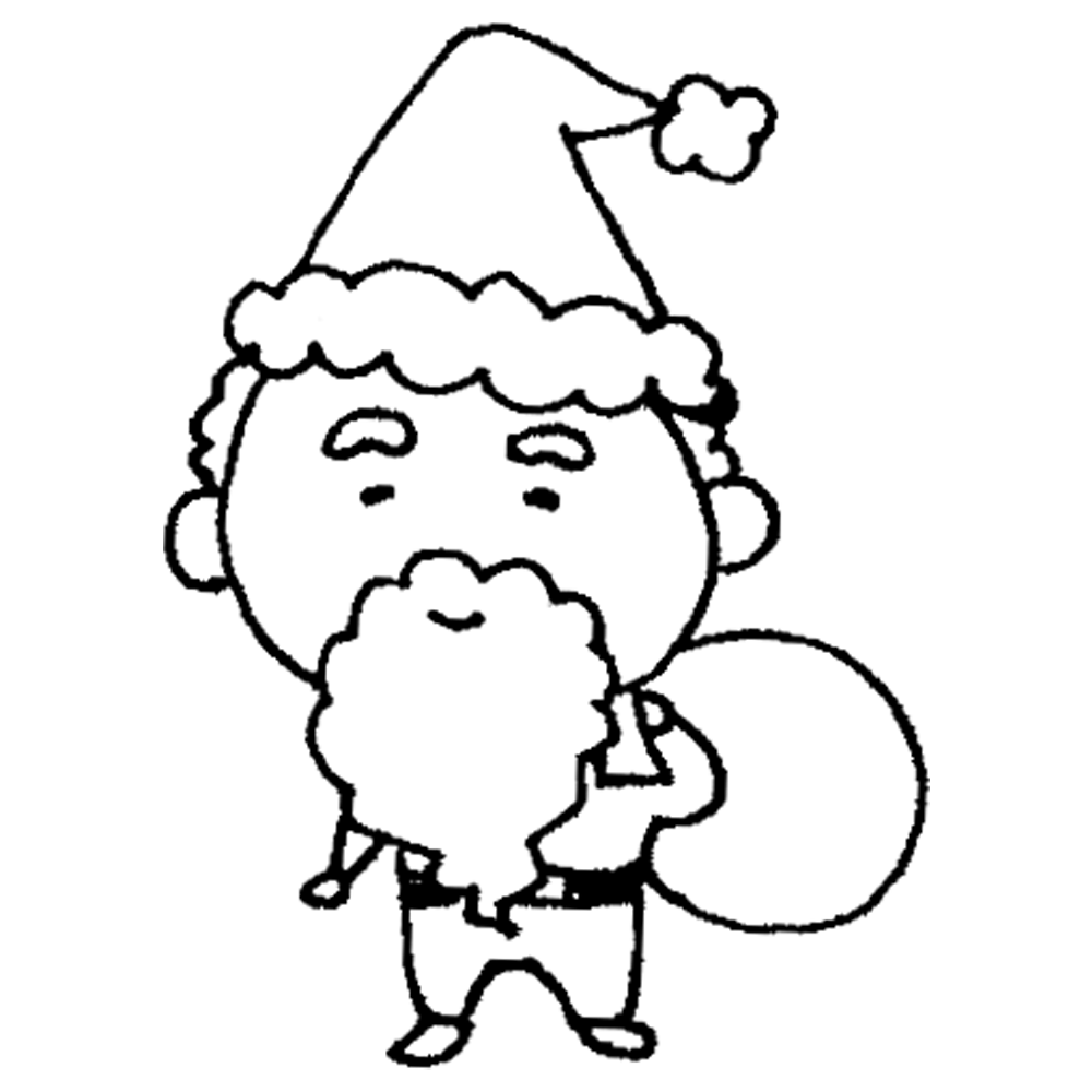 サンタクロース,サンタさん,サンタ,クリスマス,Xmas,Christmas,手書き風,人物,物語,12月,冬,イベント,プレゼント,届ける