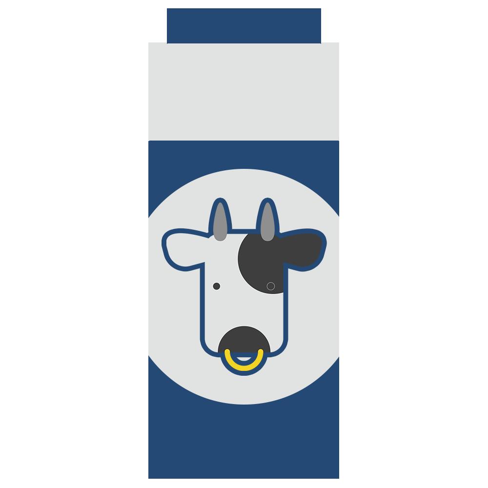 パックの牛乳のフリーイラスト