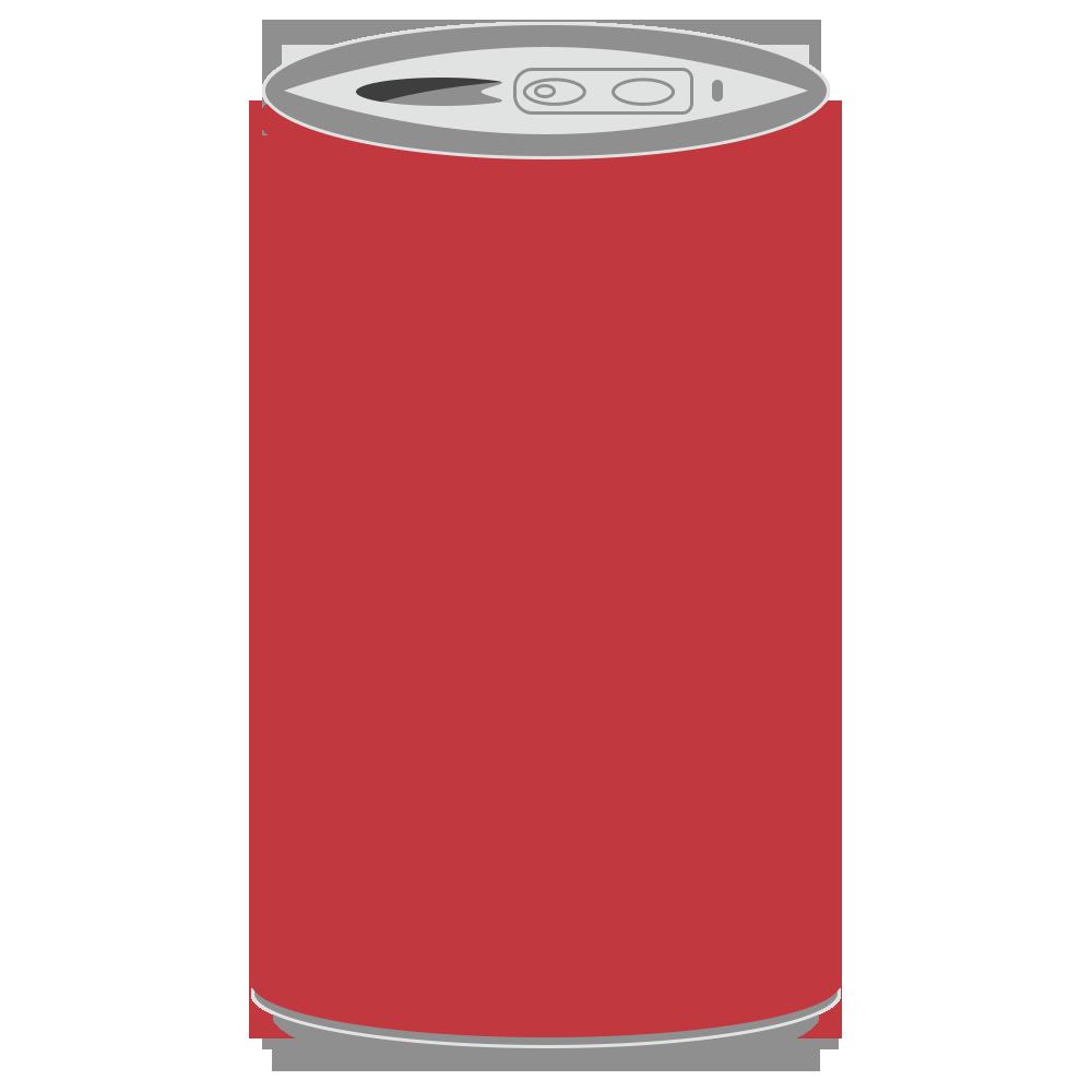 缶に入った飲み物のフリーイラスト