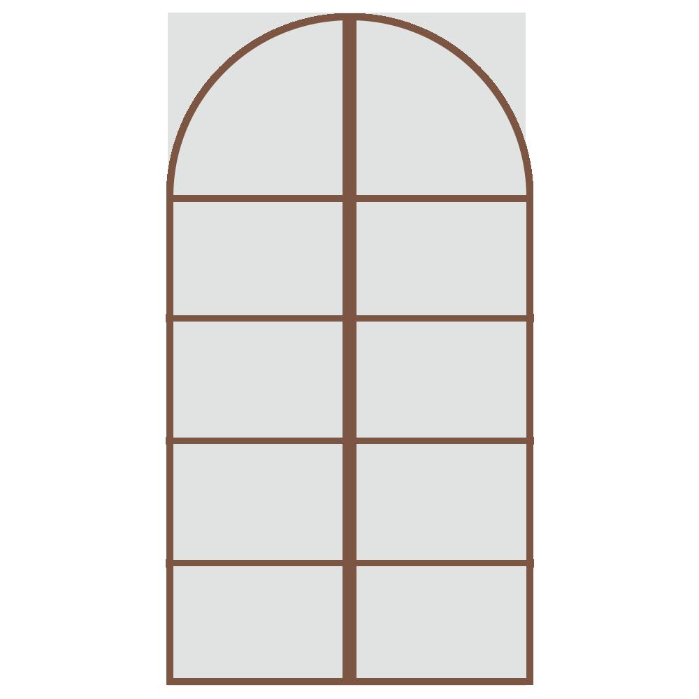 シンプル,建物,窓,扉,ウォールステッカー,お城,家,茶色,ブラウン