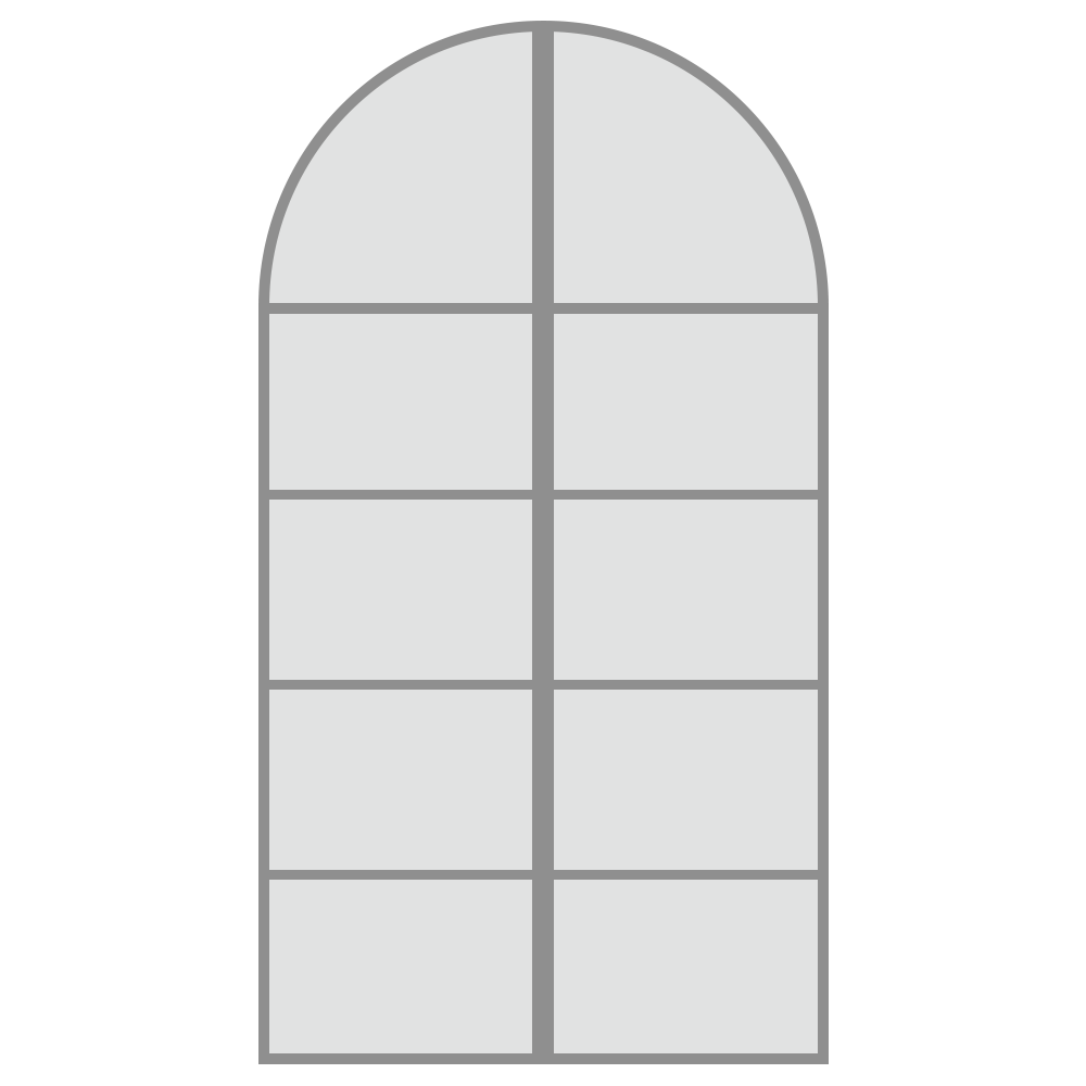 グレーの枠の窓のフリーイラスト