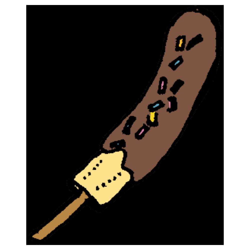 チョコバナナのフリーイラスト