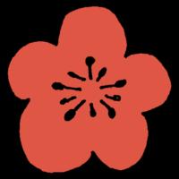 手書き風,植物,梅,うめ,ウメ,日本,花,簡略,美しい,綺麗,木