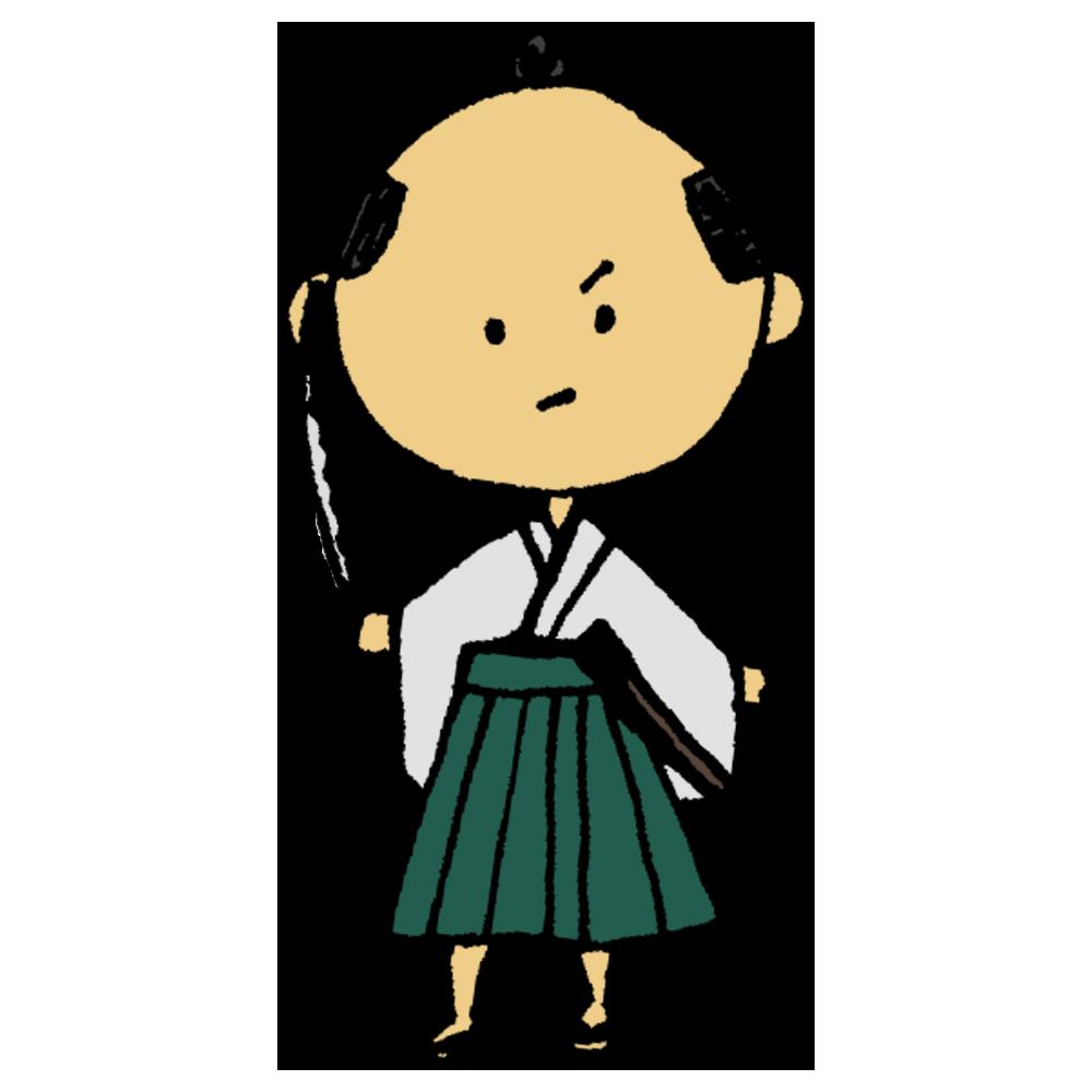 刀を持った侍のフリーイラスト