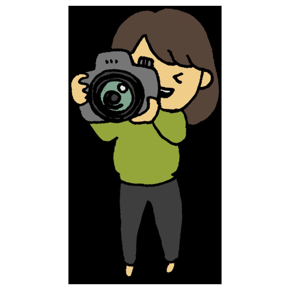 横向き,構える,ショートヘア,手書き風,カメラ,一眼レフ,カメラ女子,女性,写真,撮影,撮る,写す,電化製品,電子機器,アート,芸術,人物,コンテスト,デジタル,デジカメ,デジタルカメラ