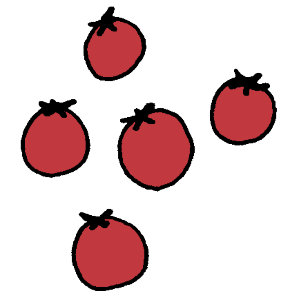 ミニトマトのフリーイラスト