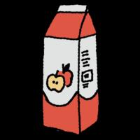 パック,1L,手書き風,飲み物,飲む,林檎,リンゴジュース,ジュース,りんご,リンゴ,果実,果物,100%,30%,果汁,甘い